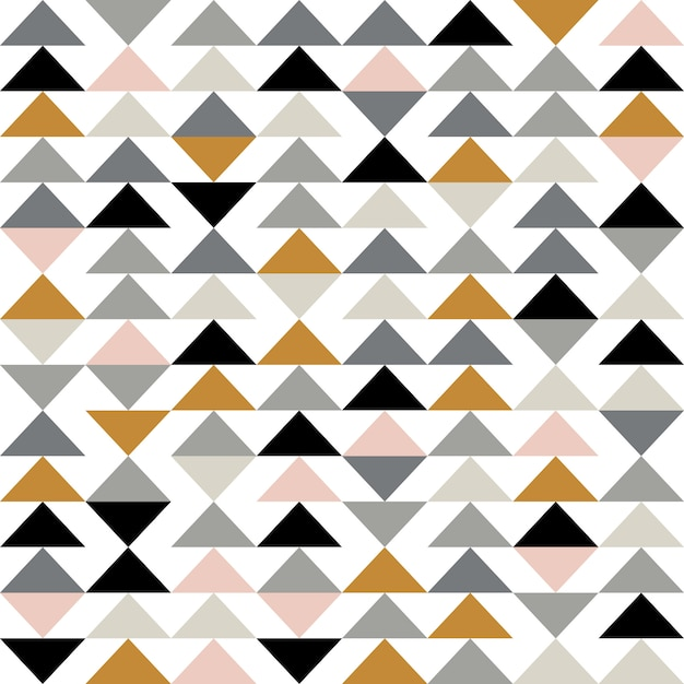 Priorità bassa geometrica astratta moderna con triangoli Vettore Premium