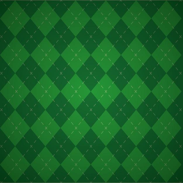 Priorità bassa geometrica verde, colori di giorno di patricks Vettore gratuito