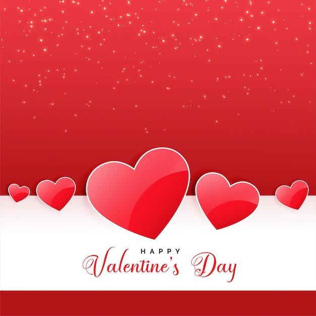 Priorità bassa lucida dei cuori per il giorno adorabile dei biglietti di S. Valentino Vettore gratuito