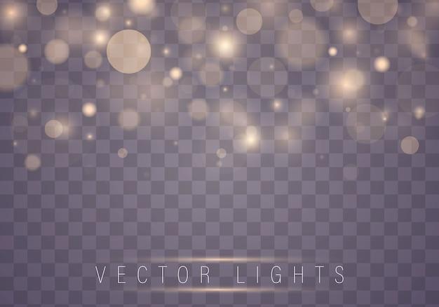 Priorità bassa luminosa viola e dorata festiva di natale. Vettore Premium