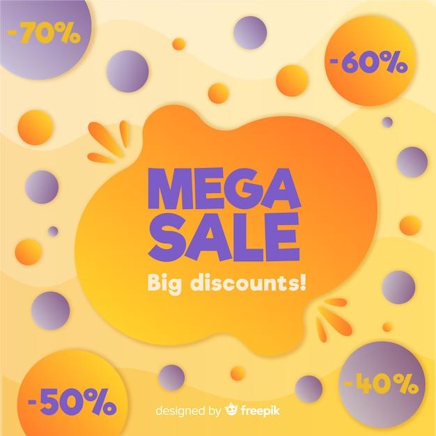 Priorità bassa mega astratta variopinta di vendite Vettore gratuito