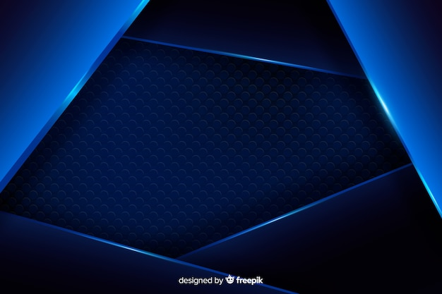 Priorità bassa metallica blu astratta con la riflessione Vettore gratuito