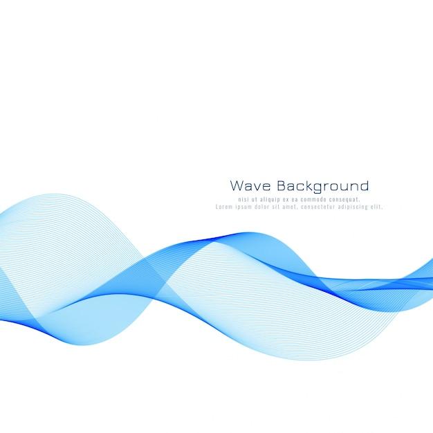 Priorità bassa moderna elegante onda blu Vettore gratuito