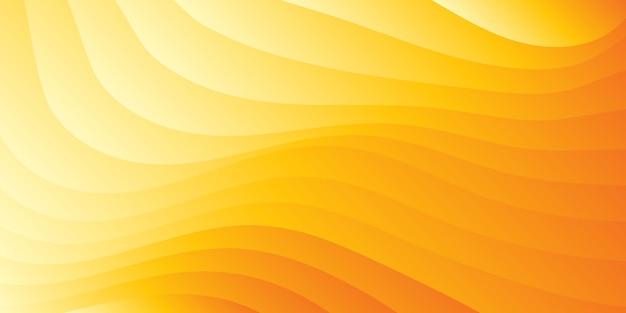 Priorità bassa ondulata arancione minimalista astratta di gradiente Vettore Premium