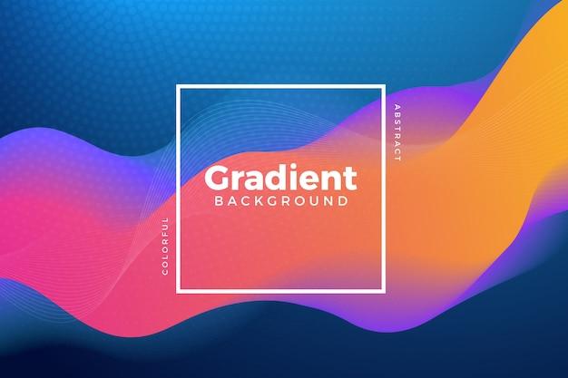 Priorità bassa ondulata variopinta gradiente moderna Vettore Premium