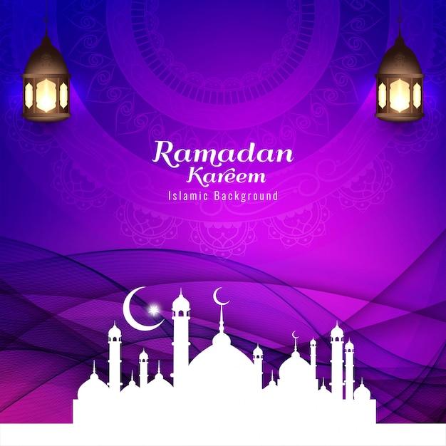 Priorità bassa religiosa di festival islamico astratto Vettore gratuito