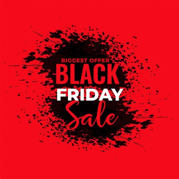 Priorità bassa rossa astratta di vendita di black friday del grunge Vettore gratuito