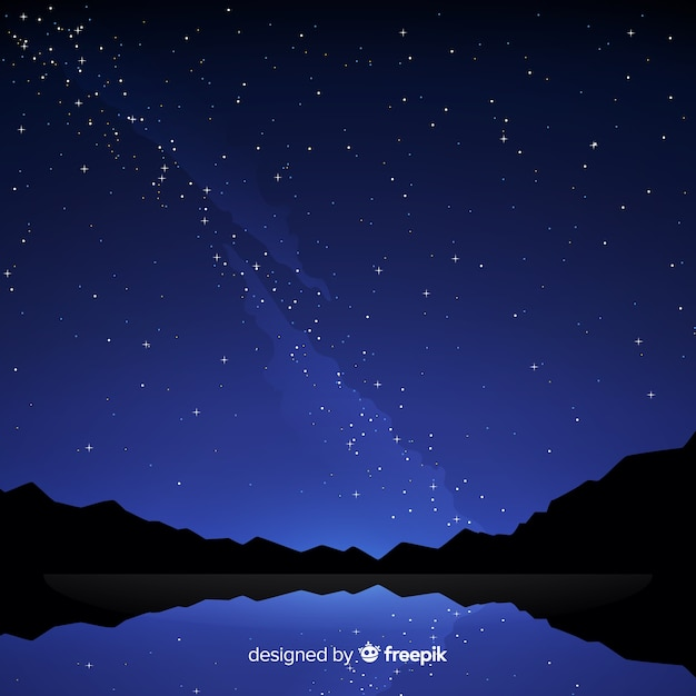 Priorità bassa stellata del cielo notturno Vettore gratuito