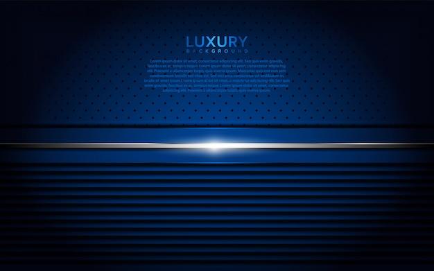 Priorità bassa strutturata metallica blu scuro Vettore Premium
