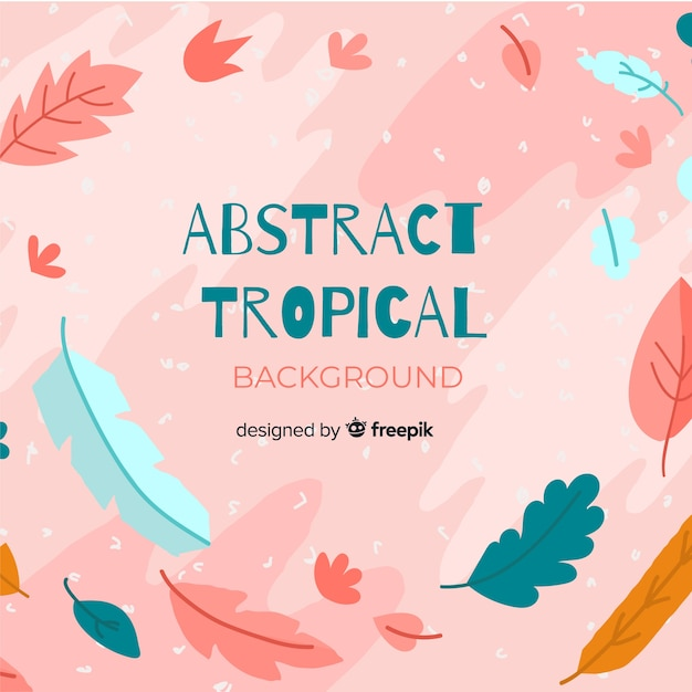 Priorità bassa tropicale disegnata a mano astratta Vettore gratuito