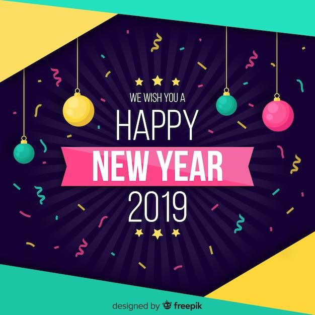 Priorità bassa variopinta del nuovo anno dei coriandoli Vettore gratuito