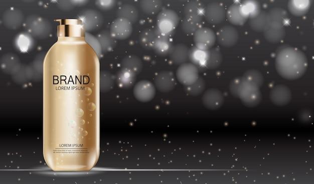 Prodotto di design cosmetics. realistico 3d Vettore Premium