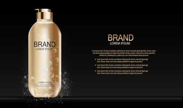 Prodotto di trucco di moda design cosmetici. 3d realistico Vettore Premium