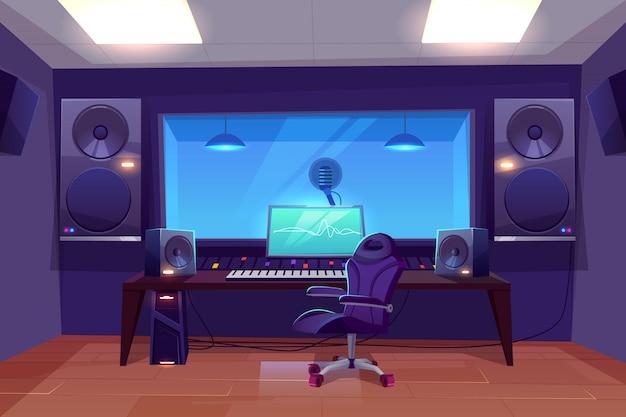 Produttore discografico o ingegnere del lavoro sul posto di lavoro Vettore gratuito