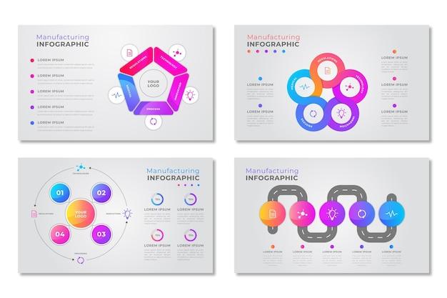 Produzione infografica Vettore gratuito