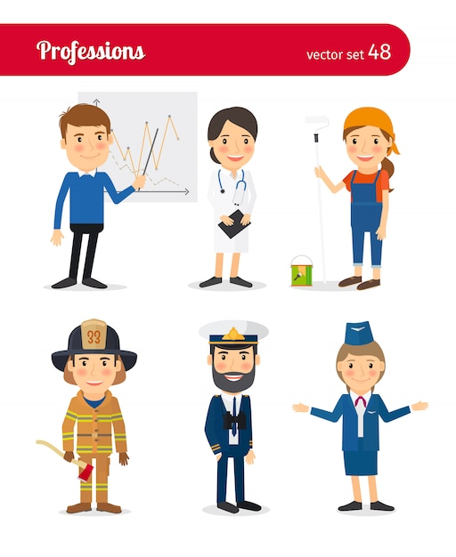 Professioni della gente Vettore Premium
