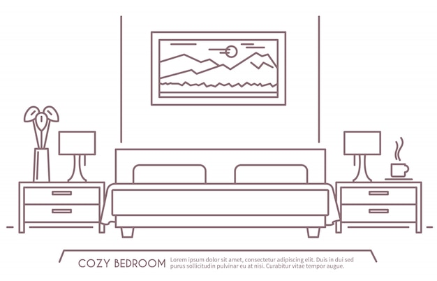 Profilo della camera da letto Vettore gratuito