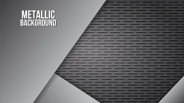 Progettazione astratta dei piatti d'acciaio di alluminio di struttura del fondo del metallo Vettore Premium