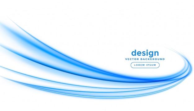 Progettazione astratta del fondo dell'onda della striscia della linea blu Vettore gratuito