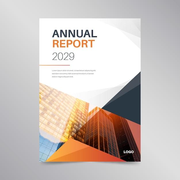 Progettazione astratta del modello del rapporto annuale Vettore gratuito