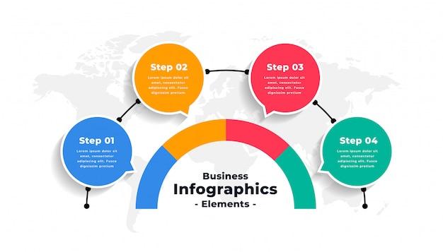 Progettazione astratta del modello di flusso di lavoro di numero di opzioni di infographics Vettore gratuito