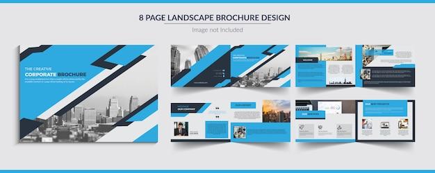 Progettazione brochure paesaggistica Vettore Premium