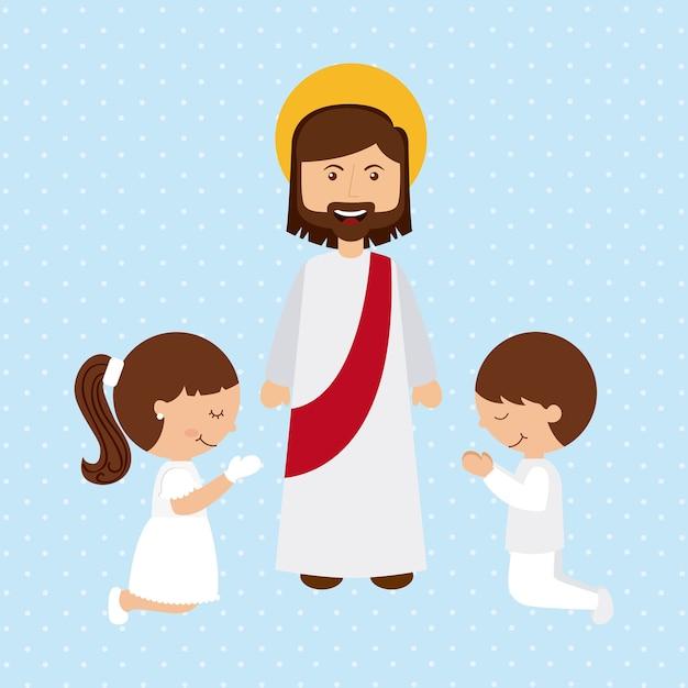 Progettazione cattolica di religione, grafico dell'illustrazione eps10 di vettore Vettore Premium