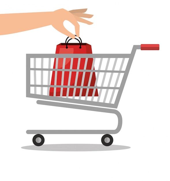 Progettazione del concetto di commercio Vettore Premium