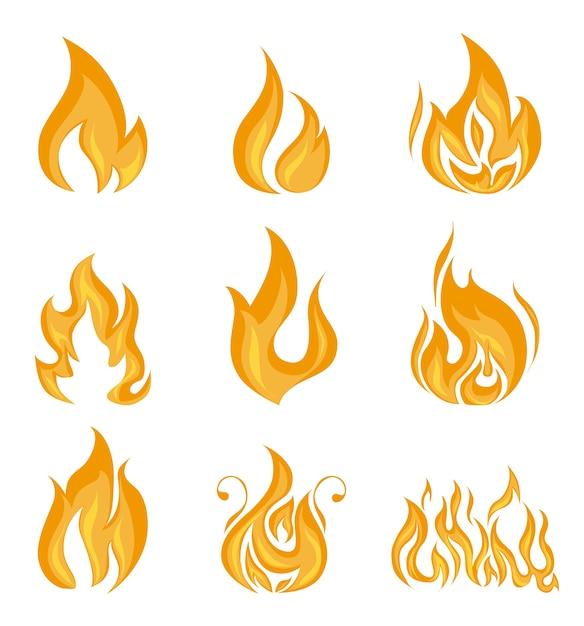 Progettazione del fuoco Vettore Premium