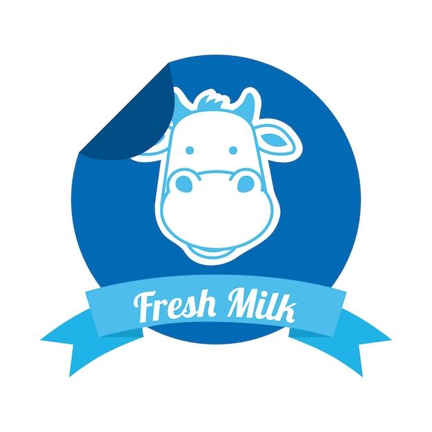 Progettazione del latte sopra l'illustrazione bianca di vettore del fondo Vettore Premium