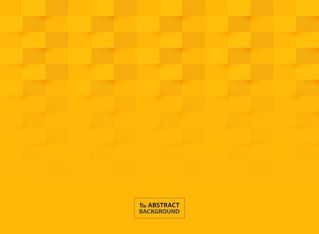 Progettazione del modello del taglio della carta astratta nel fondo giallo vivo di colore. Vettore Premium