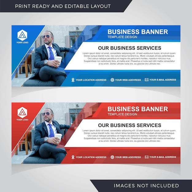 Progettazione del modello di banner aziendale Vettore Premium