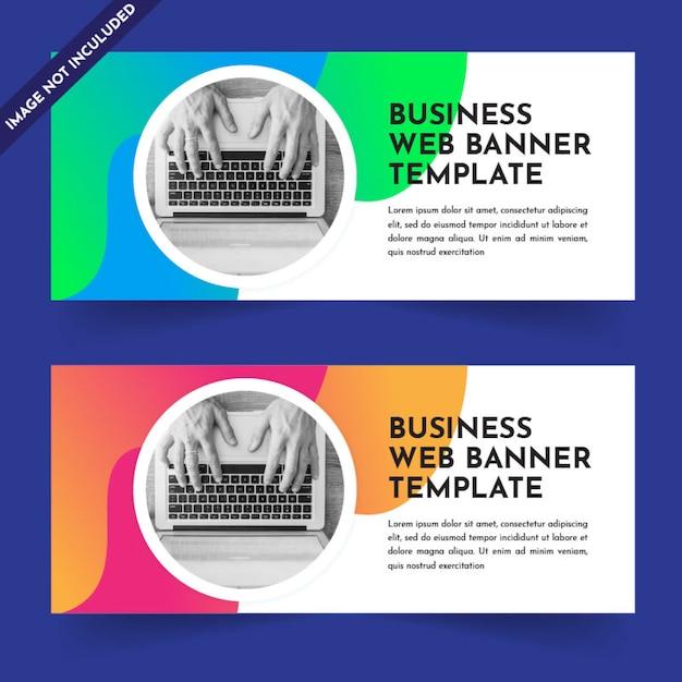 Progettazione del modello di banner web aziendale Vettore Premium