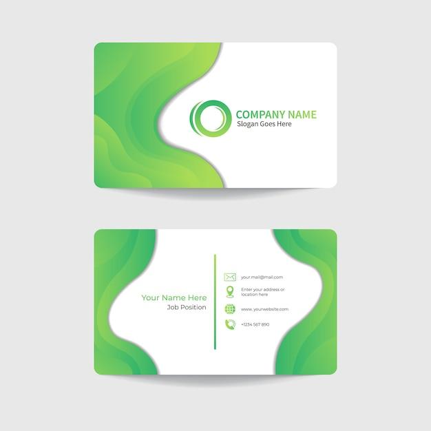 Progettazione del modello di biglietto da visita moderno aziendale Vettore Premium