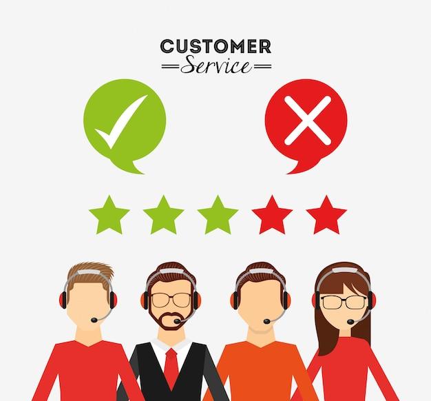 Progettazione del servizio clienti Vettore gratuito