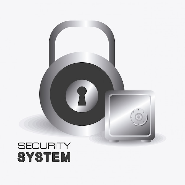 Progettazione del sistema di sicurezza. Vettore Premium