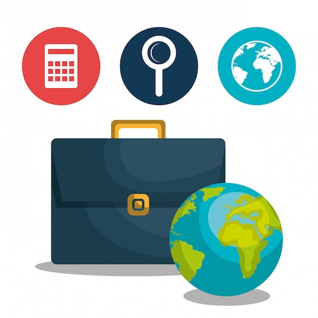 Progettazione dell'economia globale Vettore Premium