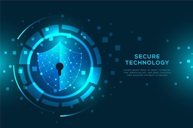 Progettazione dell'estratto del fondo di tecnologia sicura Vettore gratuito