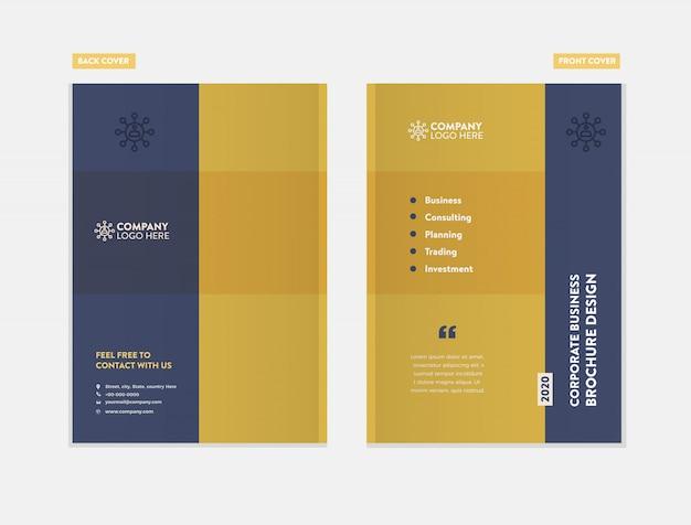 Progettazione della copertura dell'opuscolo di affari Vettore Premium