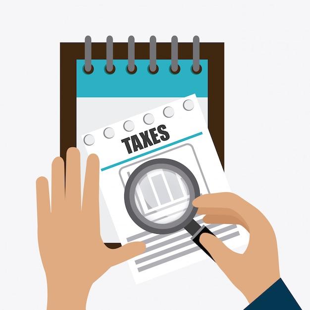Progettazione delle tasse Vettore Premium