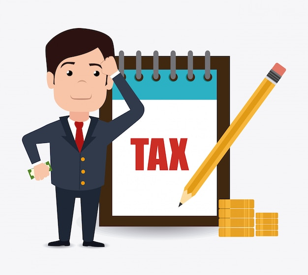Progettazione delle tasse. Vettore Premium