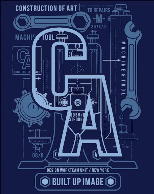 Progettazione di arte di tipografia, illustrazione del grafico di vettore Vettore Premium