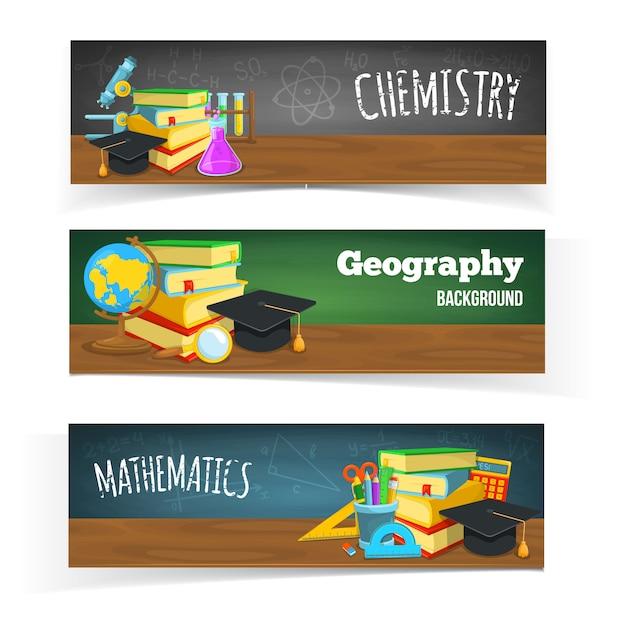 Progettazione di banner di educazione Vettore gratuito
