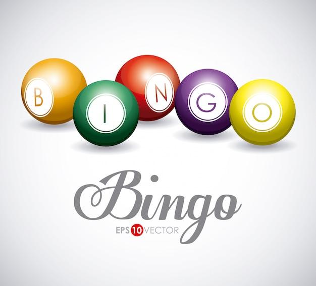 Progettazione di bingo Vettore Premium