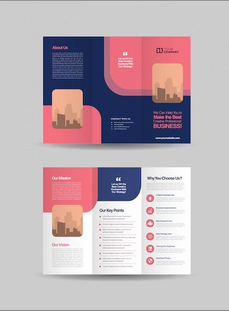 Progettazione di brochure a tre ante Vettore Premium