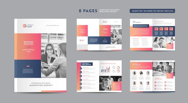 Progettazione di brochure aziendali   rapporto annuale e profilo aziendale   modello di progettazione libretto e catalogo Vettore Premium