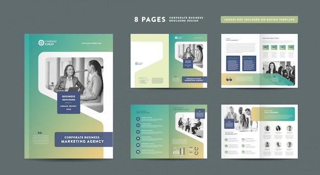 Progettazione di brochure aziendali | rapporto annuale e profilo aziendale | modello di progettazione libretto e catalogo Vettore Premium