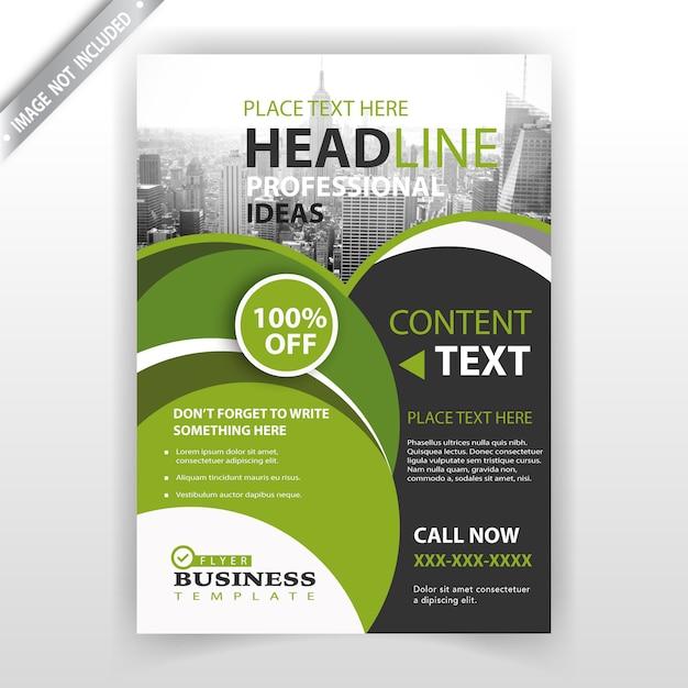 Progettazione di business brochure verde Vettore gratuito