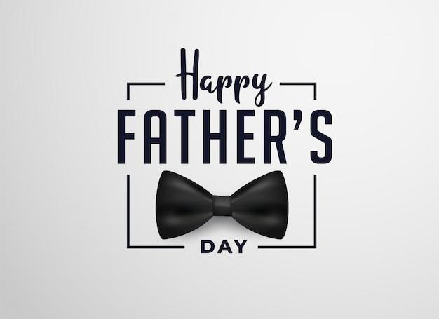 Progettazione di carta felice giorno di padri con fiocco realistico Vettore gratuito