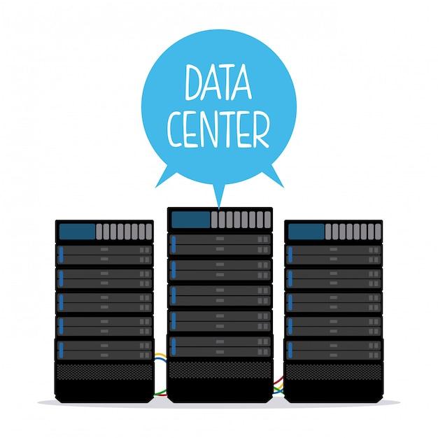 Progettazione di data center Vettore Premium